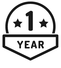 1 year money back guarantee badge