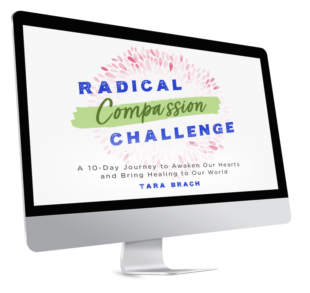 Mac Device with Radical Compassion Challenge on it