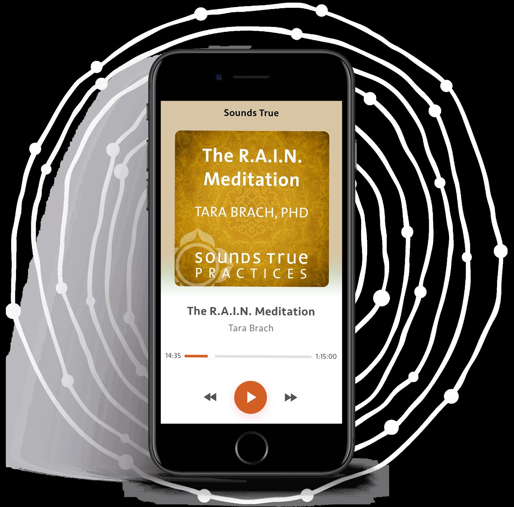 Phone displaying RAIN of Compassion bonus