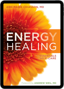 e-book of Energy Healing by Dr. Ann Marie Chiasson on an ipad