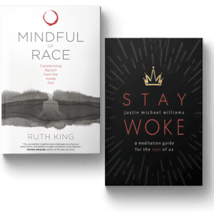 Mindful of Race and Stay Woke book covers