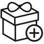 icon of a gift box with a bow on it