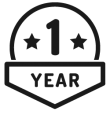 1 year money back guarantee badge